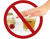 No drink sign — Stock Photo