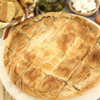 Homemade puff cheese pie with filo pastry — Stock Photo