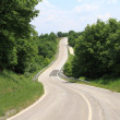 Stock Photo: Winding country road through the trees