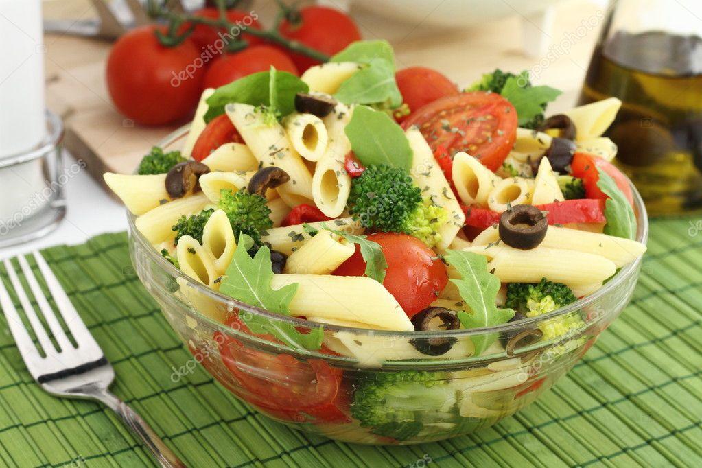salad penne vegetable fresh vegetables salad with penne and vegetable ...