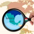 Magnifying glass over a map of Mexico — Stock Photo #6278904