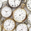 Stock Photo: Various Antique pocket watches on white
