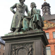 Monument brothers Grimm in Hanau, Germany. — Stock Photo