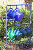 Garden watering cans — Stock Photo