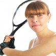 Young female tennis-player — Stock Photo
