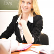 Young female teacher or student — Stock Photo