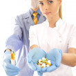 Young doctor with and his assistant — Stock Photo