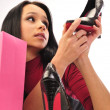 Woman shopping for shoes — Stock Photo #5655437