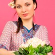 Portrait of a beautiful young girl in Asian clothing. — Stock Photo #5661573