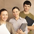 Stock Photo: Portrait of three office workers.