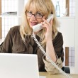 Portrait of a buisnesswoman on the telephone. — Stock Photo