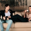 Стоковое фото: Fashion style photo of an attractive young couple