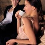 Mode-Stil-Foto des ein attraktives junges Paar — Stockfoto