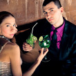 Fashion style photo of an attractive young couple — ストック写真 #5661784