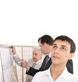 Porträtt av en team planering. — Stockfoto