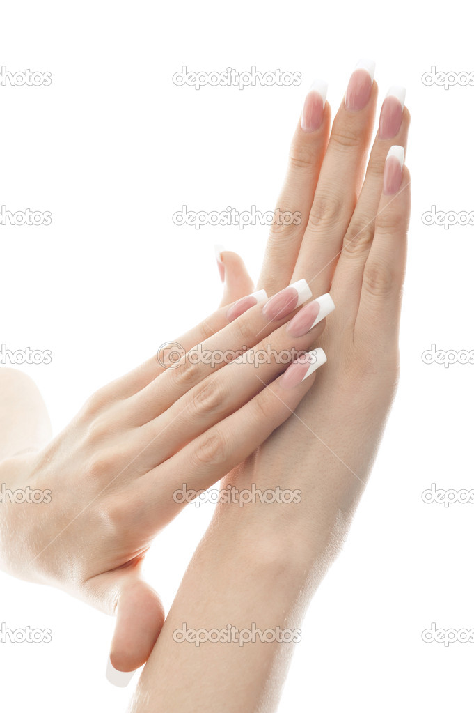 Portrait of a pair of hands. Isolated white background. — Stock Photo #5661488
