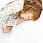 Closeup portrait of adorable little girl — Stock Photo