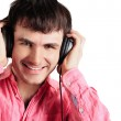 Young man wearing headphones — Stock Photo #5866528