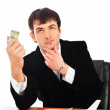 Portrait of young business man isolated on white background — Stock Photo