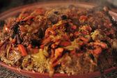 Uzbeckie danie narodowe - plov — Zdjęcie stockowe