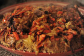 Uzbek national dish - plov — Stock Photo