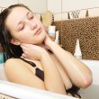 Closeup of a sexy young woman enjoing bath — Stock Photo #5911706
