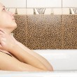 Closeup of a sexy young woman enjoing bath — Stock Photo #5911709