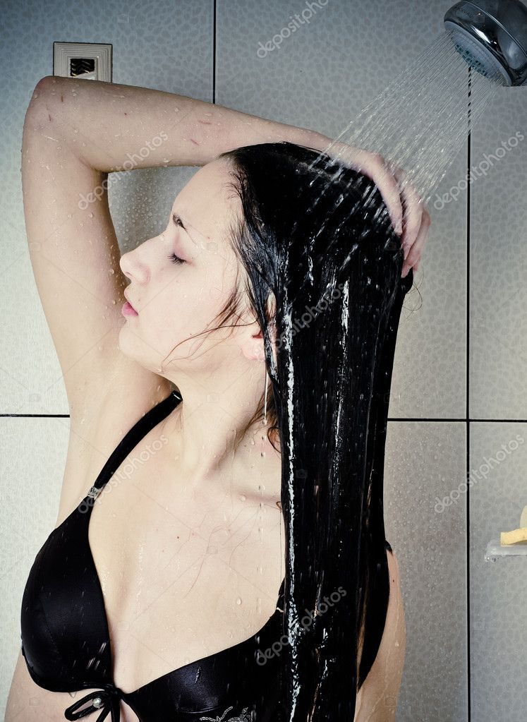 Beautiful young woman take shower — Stock Photo #5911697