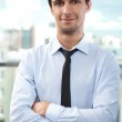 Portrait of young relaxed business man — Stock Photo