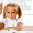 Portrait of a young girl in school at the desk. — Stock Photo #6582158