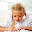 Portrait of a young girl in school at the desk. — Stock Photo #6582167
