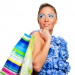 Beautiful shopping woman — Stock Photo #6654758
