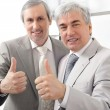Portrait of two businessmen who approve. - Stock Photo