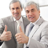Portrait of two businessmen who approve. — Stock Photo