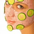 Skincare womwith beauty mask — Stock Photo #6688118