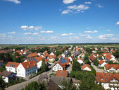 A small village in bavaria captured from a high point — Stock Photo