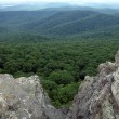 Stock Photo: View into shenandoah valley from appakachimountains