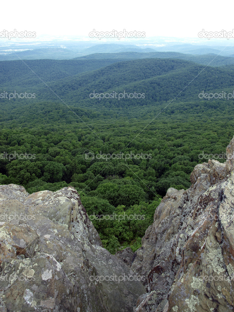View into the shenandoah valley from the appakachian mountains in the us  Stock Photo #5906247