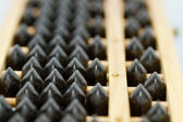 Black bead abacus — Stock Photo