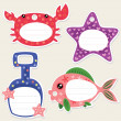 Seaside gift tags - Stock Vector