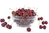 Bowl full of cherries. — Stock Photo