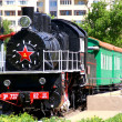Steam locomotive. Russia - Stock Photo