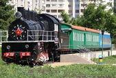 Old Russian steam locomotive. Russia — Stock Photo