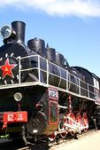 Old Russian steam locomotive. Russia — Stock Photo
