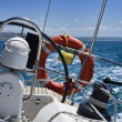 Cruising on a sailing boat — Stock Photo