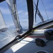 Cruising on a sailing boat — Stock Photo #6430997
