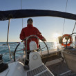 Stock Photo: Cruising on sailing boat