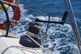 Plavba na plachetnici, naviják — Stock fotografie
