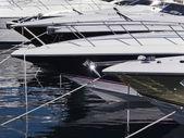 Marina de itália, nápoles, iates de luxo — Foto Stock