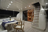 Italy, luxury yacht, Fiumicino, Rome, Rizzardi Technema 65 — Stock Photo